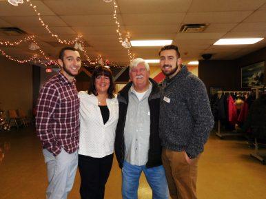 Brian Powers, Brenda Riske Powers, Pat Riske and Adam Powers. | JACKIE SCHULZ/Contributor