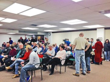 Monday's village council meeting was one of the best attended in a long while as the public showed up to discuss video gambling. | Courtesy Matthew Hendrickson