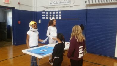 Students visit the wax museum.