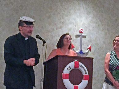 Fr. Stan, Dorothy Gillian and Sandy Nutley. | JACKIE SCHULZ/Contributor