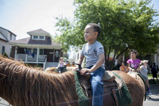 Dani Gogginis rides a pony. | William Camargo/Staff Photographer