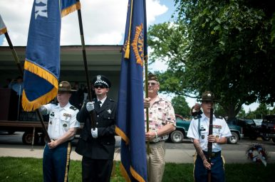 Police and military personnel took part in the annual Memorial Day ceremony in Forest Park on Monday, May 30. | William Camargo/Staff Photographer