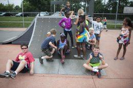 Kids taking a break during Safe Skate. | William Camargo/Staff Photographer