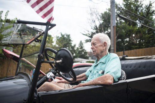 Don Carter in his Model T car. | William Camargo/Staff Photographer