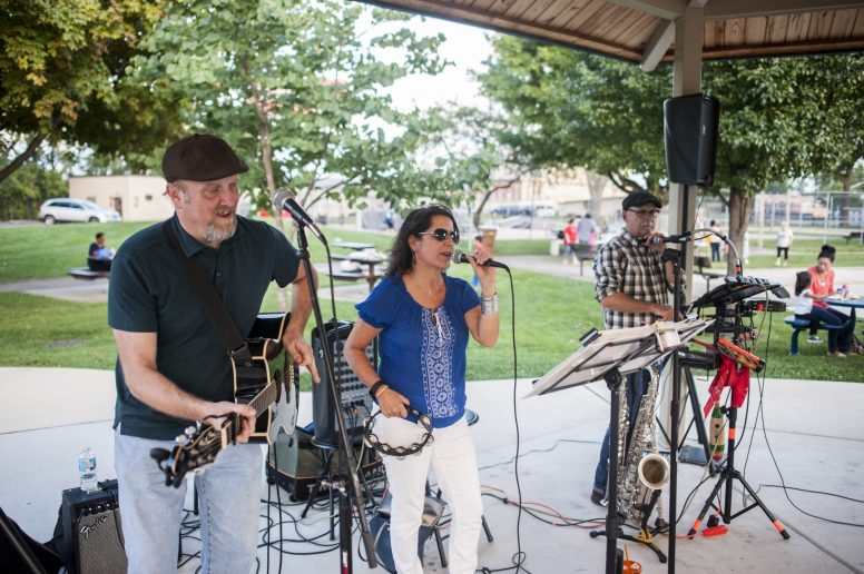 The Szurko Trio perform at the Park District of Forest Park on Friday afternoon, Sept. 16. | William Camargo/Staff Photographer