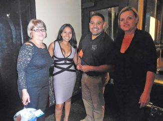 Esthela Gonzales, Leo Morales, Pam Johnson and Radana of Shanahan's at the fundraiser. | JACKIE SCHULZ/Contributor