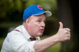 Kevin Bry, who played Billy Sunday, talks about his career as a Chicago White Stocking, now known as the Chicago Cubs. | William Camargo/Staff Photographer