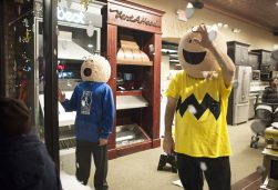 Charlie Brown and the gang were part of the display at Grand Appliance. | William Camargo/Staff Photographer