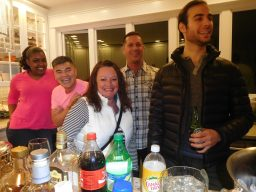 Party-goers at Kyle Truong and Scott Watson's Christmas party in Forest Park. | JACKIE SCHULZ/Contributor