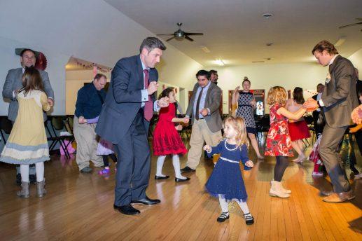 Stephen Balsavich dances with daughter Ava.   Jason Schumer/Contributor