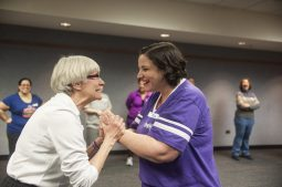 Martha Thompson and Tara Brinkman of Impact Chicago show some moves. | William Camargo/Staff Photographer