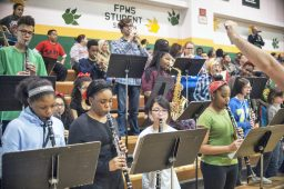 The Forest Park Middle School band plays some tunes. | William Camargo/Staff Photographer