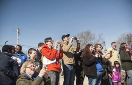 Cellphones recorded the event.   William Camargo/Staff Photographer