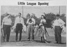 Little League opening with, of course, Blanche Kos. | Courtesy Forest Park Historical Society