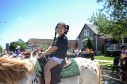 Heidy Fausto on the pony ride. | William Camargo/Staff Photographer