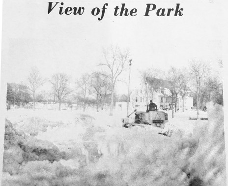 The Park, snowed in   Photo courtesy Forest Park Historical Society