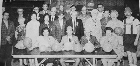 """Planners meeting for the """"highlight of the year,"""" the annual Oktoberfest in September.   Photo courtesy Forest Park Historical Society"""
