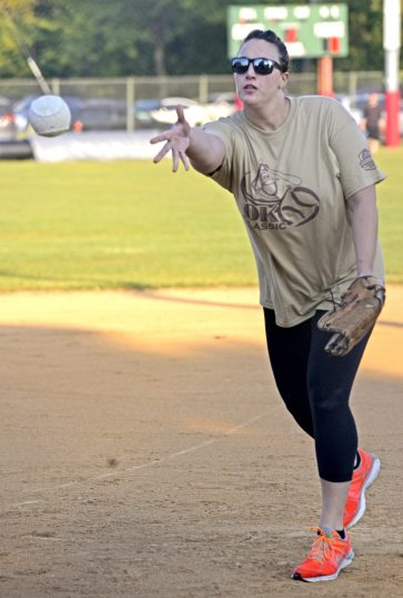 Pitcher for BK's TBD's pitches the ball. | Alexa Rogals/Staff Photographer