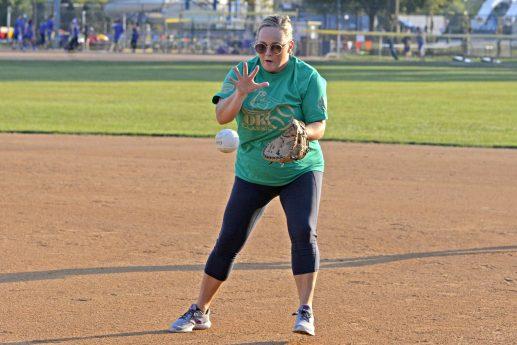 Bucky's Bunch second basemen snags a bouncing grounder. | Alexa Rogals/Staff Photographer