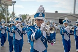 Proviso East High School marching band. (Alex Rogals/Staff Photographer)