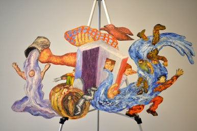 An art piece made by Michael Thomas at Forest Park Baptist Church on Harlem Avenue. | Alexa Rogals/Staff Photographer