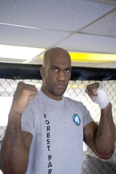 Former NFL star turned MMA pro, Pierre Walters poses at Victory Martial Arts gym in Forest Park. | Alexa Rogals/Staff Photographer