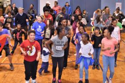 Students, parents, teachers and friends danced in Field Stevenson's gym at he South PTO Spring Fling Carnival. | Courtesy South PTO