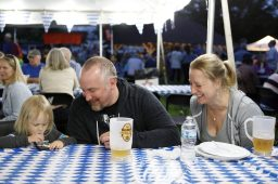 Mike and Monika Colter, of River Forest, share a laugh with their daughter, Alessia, 3.   Sarah Minor/Contributor