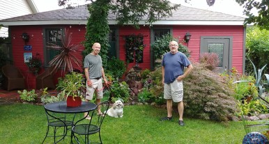 John Sahli and Rick Wagner have planted more than 500 coleus' in their backyard. | Submitted photo
