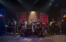 (left to right) Sarah Beth Tanner, Mike Mazzocca, T.J. Anderson, Elleon Dobias, Amanda Giles, Bridget Adams-King, Erik Pearson, Joey Harbert, Melanie Vitaterna, Kelan M. Smith, Josiah Robinson and Eric Loughlin in Underscore Theatre Company and The Den Theatre's new musical HAYMARKET. Photo by Michael Brosilow.