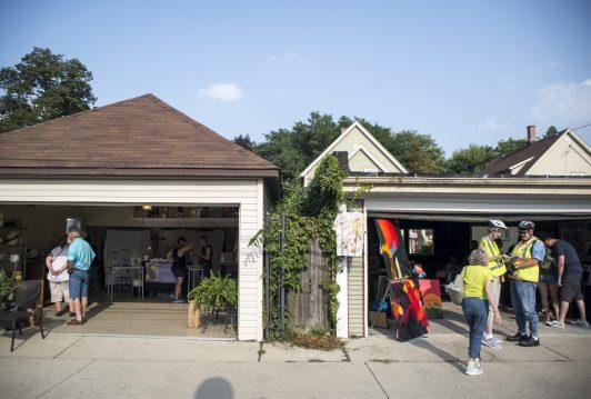 Garage Galleries open to the public with art. | Alexa Rogals/Staff Photographer