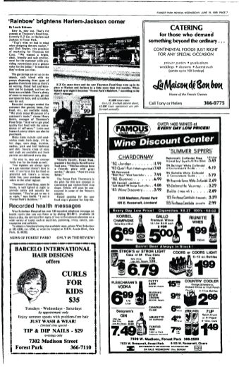 Staff writer, Laurie Kokenes, shares a business update on the corner gas station in 1985.