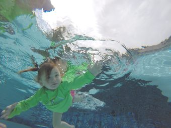 Liz Huber's daughter refreshes her swimming skills after six weeks of training. | Submitted photo