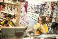 Students from the Gasse School of Music perform at the Hallmark Store. | Alexa Rogals/Staff Photographer