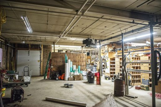 A portion of the shop is has been cleared out inside Thiesse Plumbing on Circle Avenue in Forest Park. The business closed last month after 72 years in operation. | Alexa Rogals/Staff Photographer
