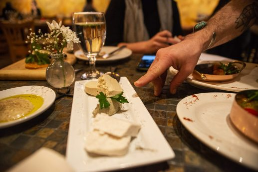 Executive Chef Gaetano Di Benedetto offers different vegan cheeses and vegan butter at at Gaetano's Italian restaurant on Madison Street in Forest Park. | Alexa Rogals/Staff Photographer