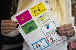 D91 handmade Project Kindness labels. | Alexa Rogals/Staff Photographer