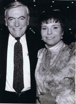 Bob Haeger, Publisher of the Forest Park Review with Judy Topinka, journalist, before her days serving in some of the highest offices in the State of Illinois.