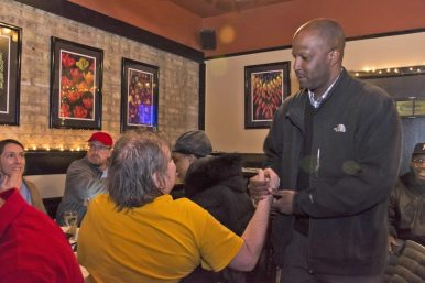 Members of the Forest Park community come out to Shanahan's on Madison Street for Forest Park Mayoral candidate's, Rory Hoskins, election night party. | Photo by April Alonso