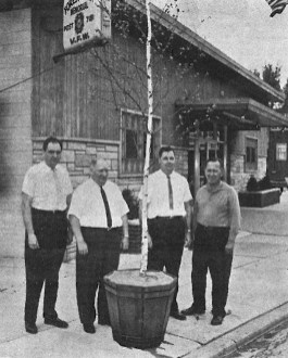 Mayor Howard Mohr is a recognizable face (third from left) in this May 14, 1964 cover photo from the Forest Park Review. Kiwanis Club members planted trees around town for the Clean up, paint up and fix up campaign.
