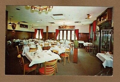 The interior of Otto's Restaurant featured on a postcard.