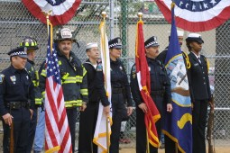 Honor guard from Forest Park in 2002.