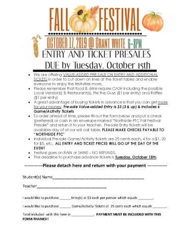 Nothside PTC Fall Festival Flyer