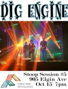 Rock out to Dig Engine | Forest Park Arts Alliance hosts its fifth Stoop Session featuring the band Dig Engine on Oct. 15 at 7 p.m. at 905 Elgin Ave.