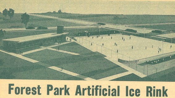 Forest Park Ice Rink as planned and featured in the Review.