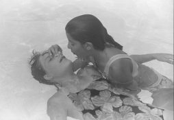 Kathryn Owen and Amer Alonzo practicing Life Saving skills in Heidi Rausch's swimming class in 1993.