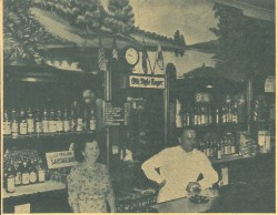 Vic and Vi Bisluk, veterans in the tavern business, purchased the saloon at 7737 Roosevelt Road (now McGaffer's) around 1951. Photo from the July 21,1955 Forest Park Review.