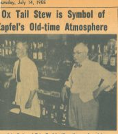 John Boehm and Toby Zapfel both from Austria, met tending bar at Thoede House. Their friendship lead to business partnership and the purchased the tavern at 16 Lathrop from Max Schultz. Click the link about to learn read about the history of August Thode's restaurant or Max Schultz's tavern.