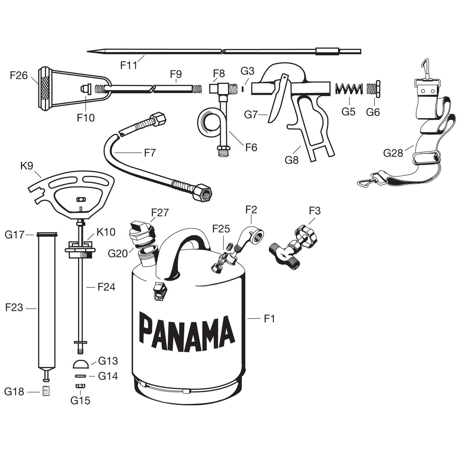 Panama Flame Torch Replacement Parts