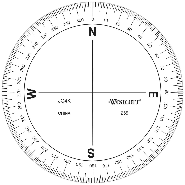 Azimuth Compass Protractor